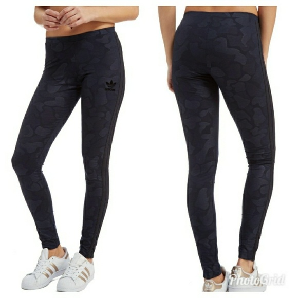 62a585dd581 adidas Pants | Originals Navy Camo Leggings | Poshmark